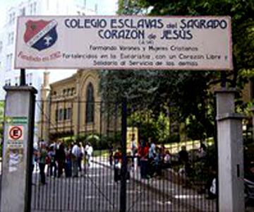 entrada colegio esclavas del sagrado corazon