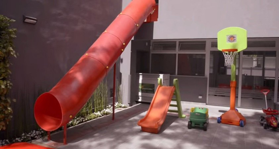 Colegio French_en Banfield_Lomas de Zamora_jardin de infantes_patio