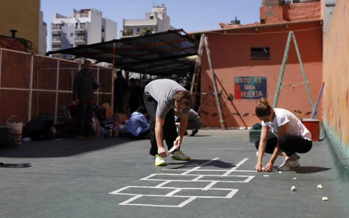 Escuela Mundo Nuevo-en Villa Crespo-patio