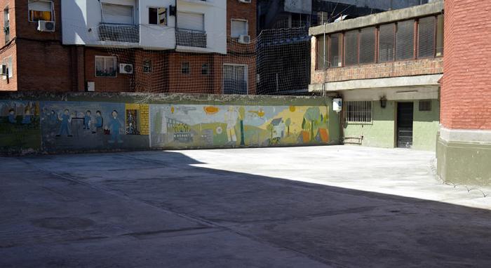 colegio Parroquial San Juan XXIII_ patio Secundaria