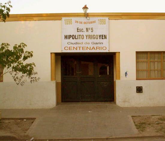 """Escuela EGB nro 5 """"Hipólito Yrigoyen"""" de Garin 3"""