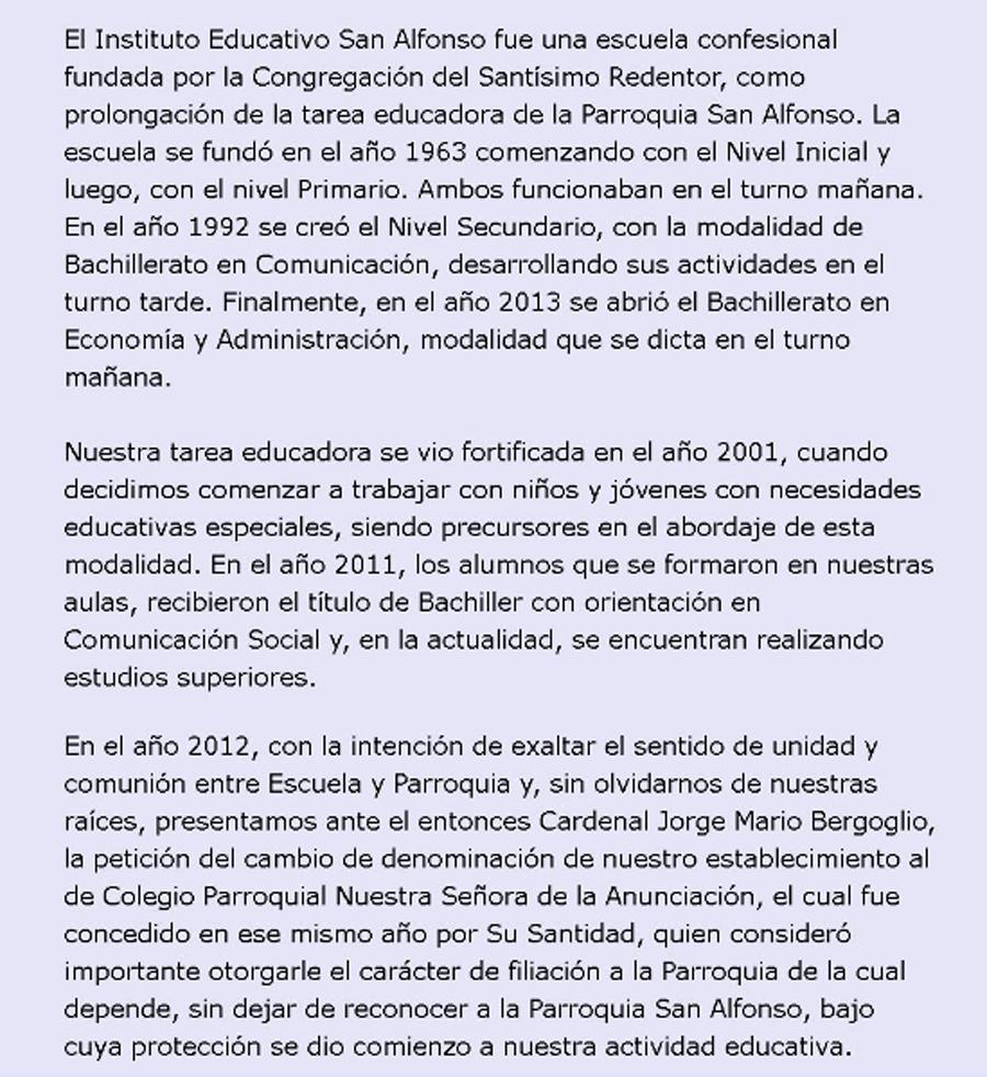"""Colegio Nuestra Señora de la Anunciación (""""San Alfonso"""") 3"""