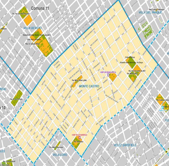Listado de Colegios privados en el barrio de Monte Castro 42