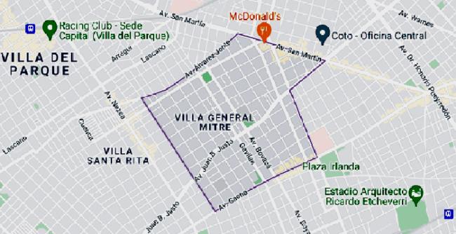 Listado de colegios en Barrio General Mitre 1